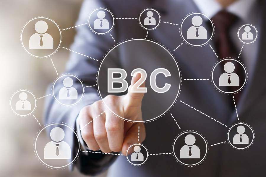 Cloud virtuell mit B2C