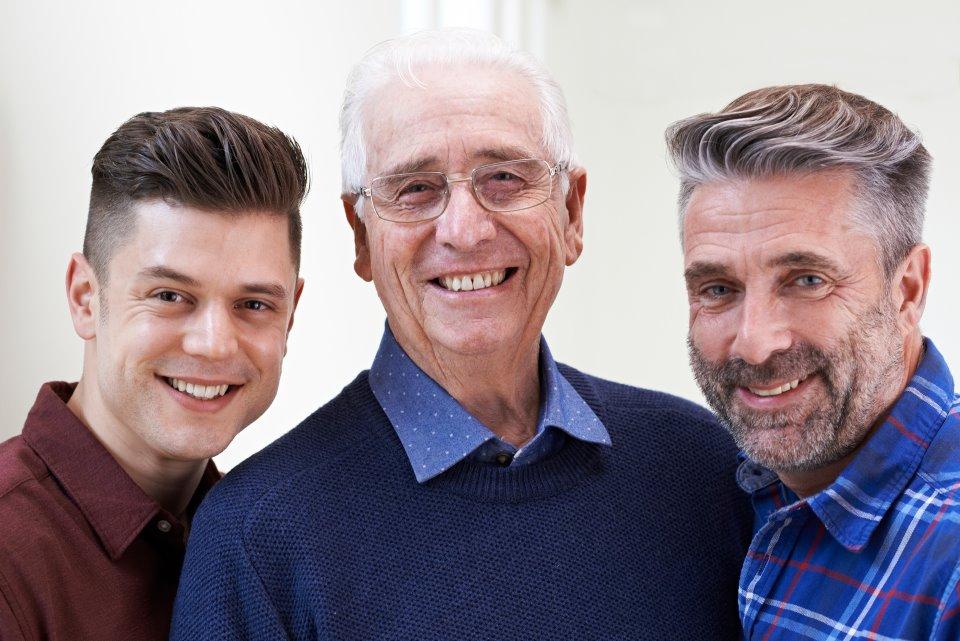 Vater, Großvater und Sohn