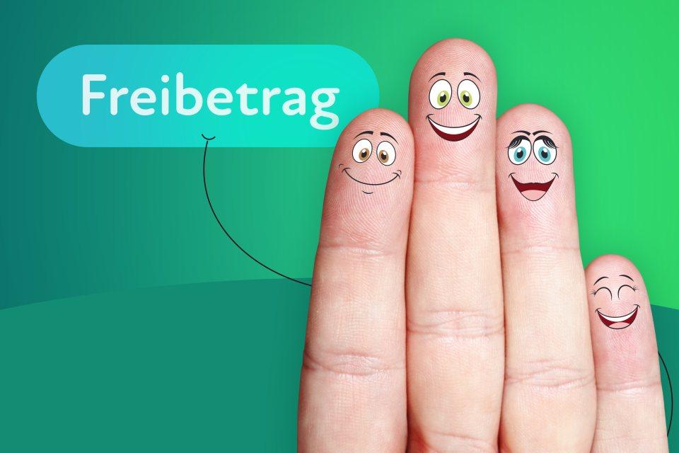 angemalte Finger Freibetrag Sprechblase
