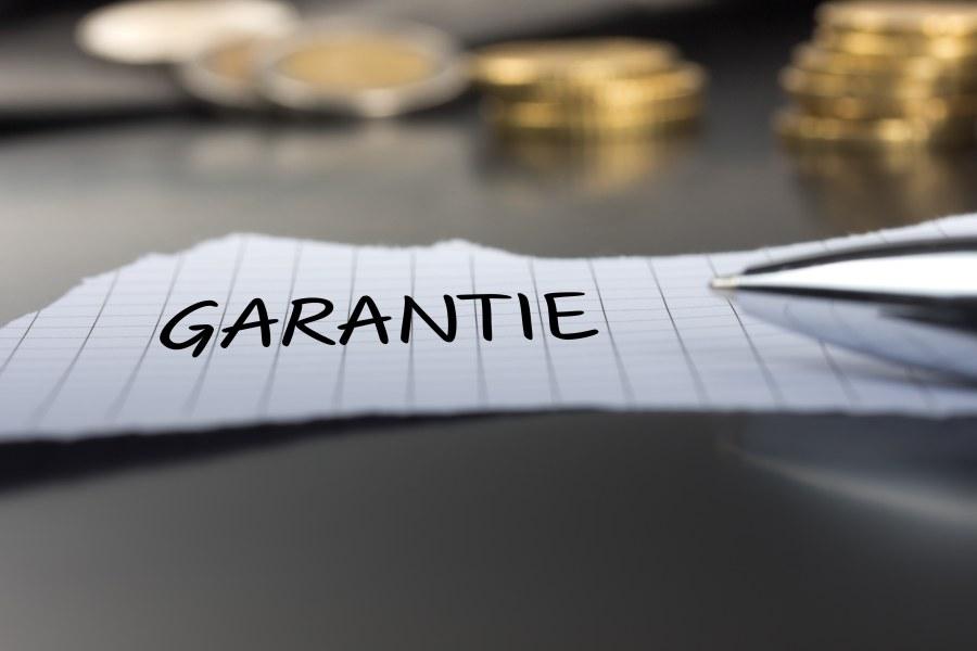 Zettel mit Aufschrift Garantie