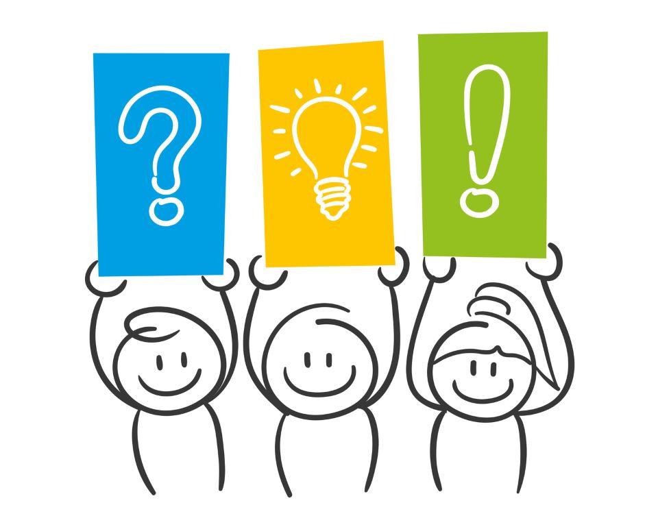 Fragen und Antworten - Strichmännchen