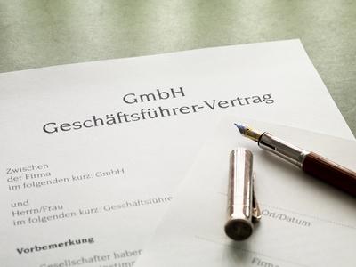 Vorlage Für Einen Gmbh Geschäftsführer Vertrag Selbststaendigde