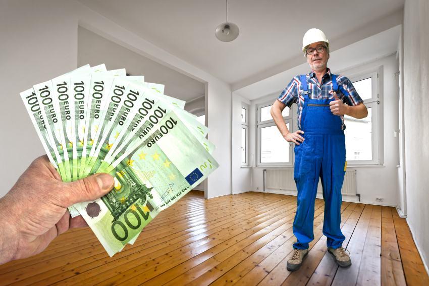 Hausmeister Geldscheine