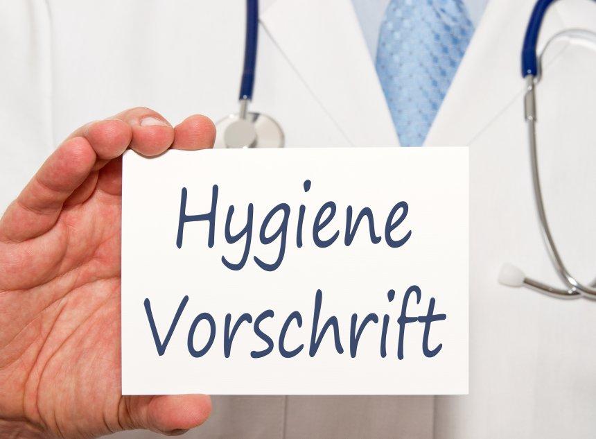 Hygienevorschrift Schild
