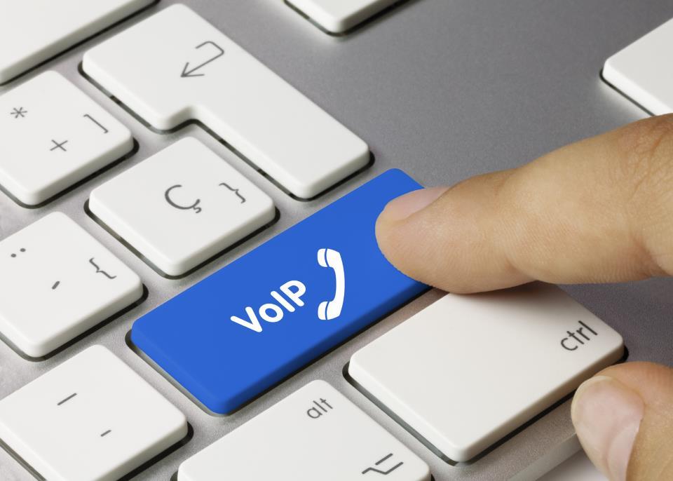 Tastatur mit Button VoIP