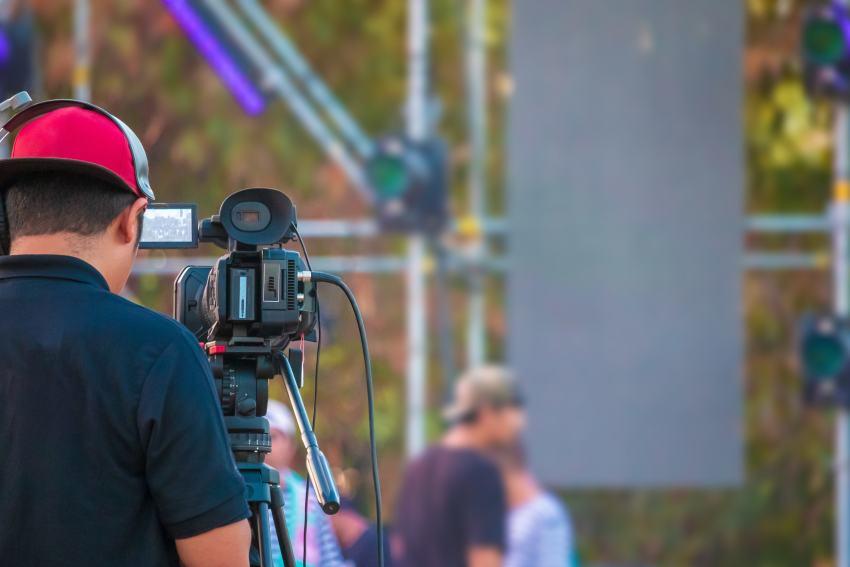 Fotograf beim Konzert