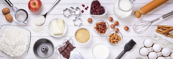 Zutaten für Kuchen