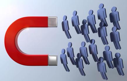 Magnet Kunden Anziehung