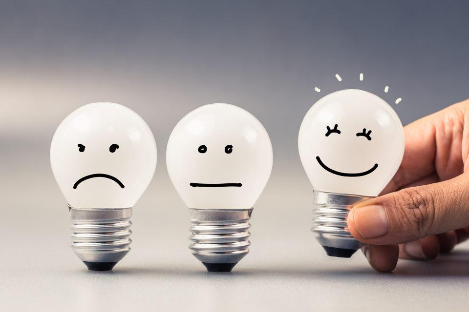 Glühbirnen mit Smiley