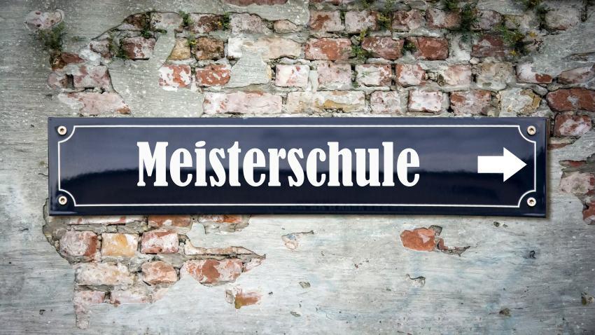 Schild Meisterschule