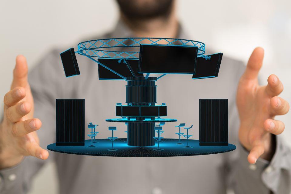 3D-Modell Messestand