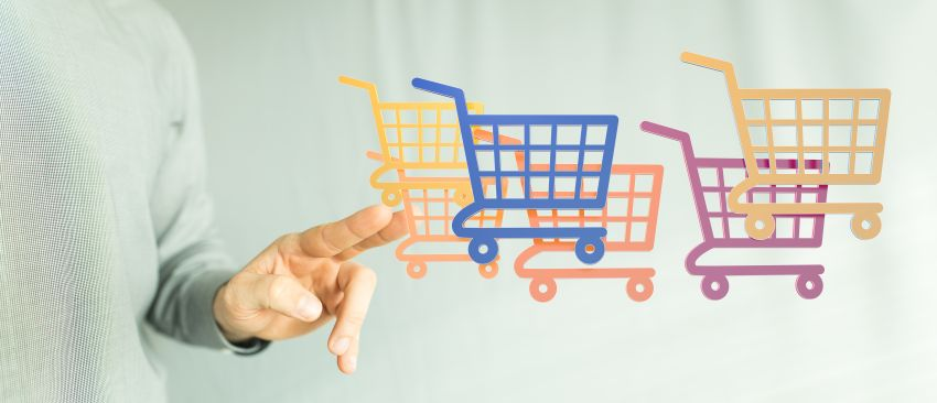 virtueller Einkaufswagen