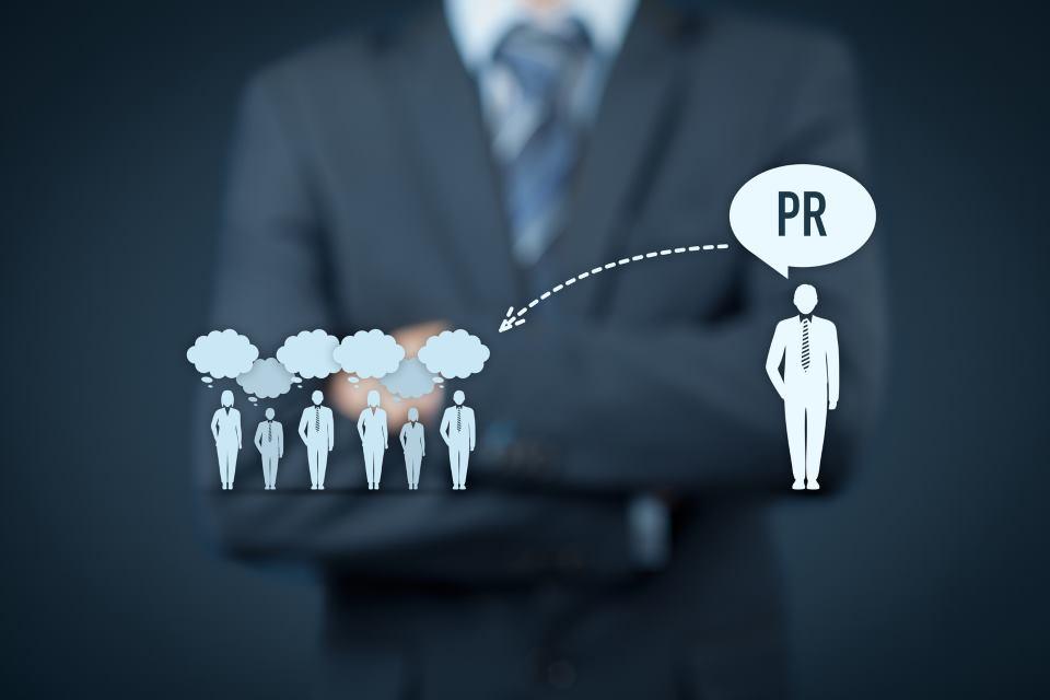 public relations Sprechblasen Grafik