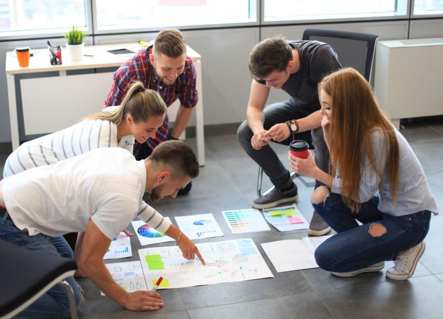 Junge Gründer planen