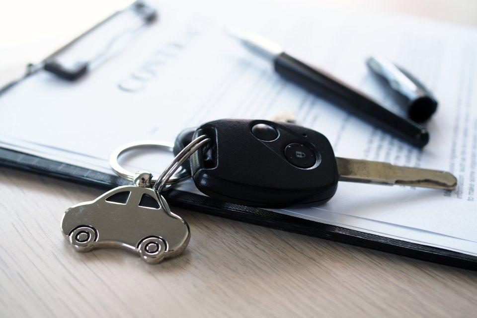 Schlüssel auf Kaufvertrag KFZ