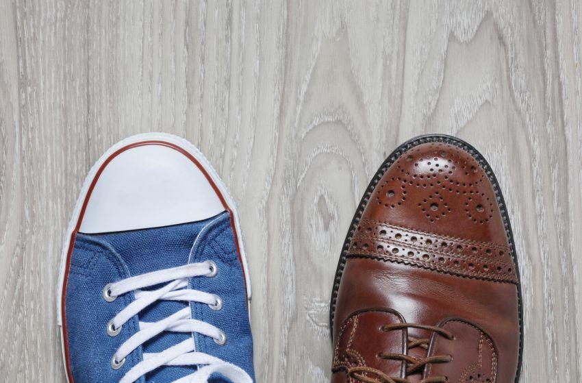 Linker Schuh Freizeit rechter Schuh Arbeit