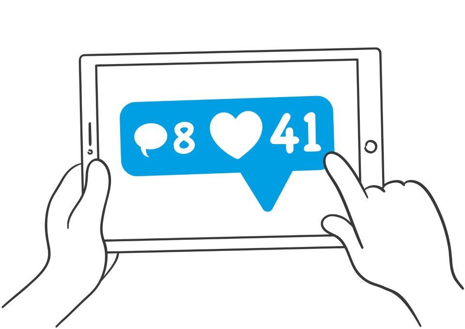 Social Media Tablet Grafik