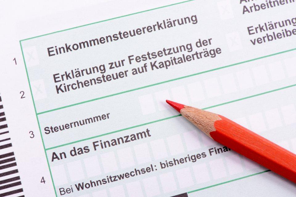 Steuernummer Feld auf Erklärung