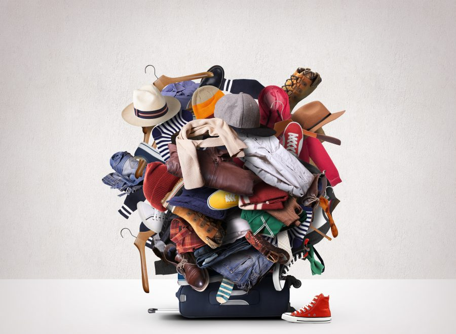 Koffer überfüllt