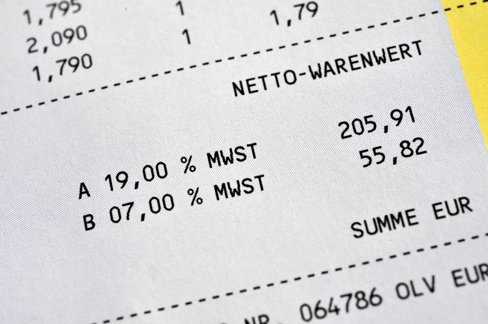Beleg mit ausgewiesener Vorsteuer