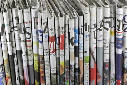 Sortiment an Tageszeitungen