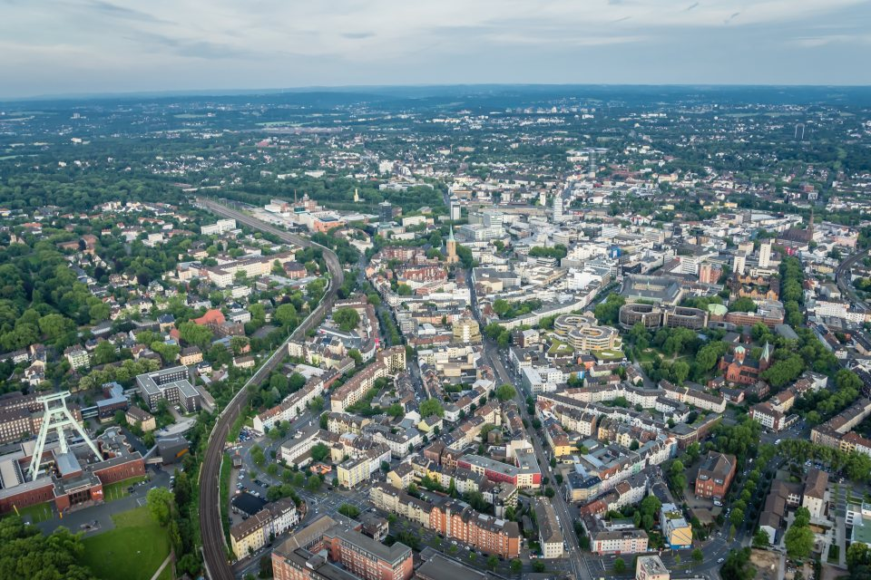 Luftbildaufnahme Bochum Innenstadt