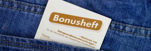 Bonusheft in Hosentasche