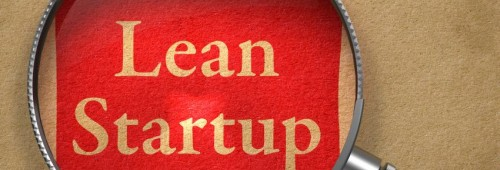Lupe auf Text Lean Startup